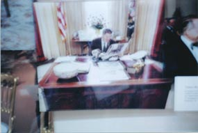 reagan at his desk